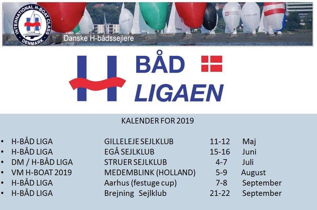 3f0865458 H-bådsliga stævne kalender • Danske H-bådssejlere